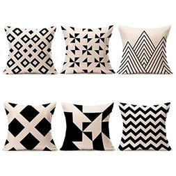 modern simple geometric pillow covers