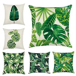 Zeafin Modern Simple Tropical Plants Series Cotton & Linen B