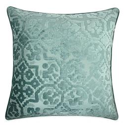 Homey Cozy Modern Velvet Throw Pillow Cover,Spa Blue Luxury