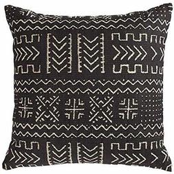 """Mudcloth-Inspired Throw Pillows Pillow, 17"""" X 17"""", Onyx Home"""