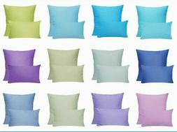 100% Cotton PILLOW COVER Pink Blue Red Yellow Green Gray CUS