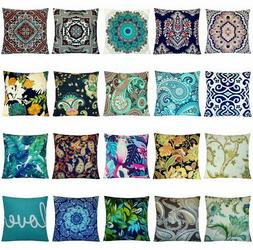 "16x16"" Bohemian Fancy Premium Soft Throw PILLOW COVER Sofa C"