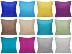 Multi-Color Linen Decorative Throw PILLOW COVER Sofa Couch C