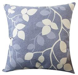 Multi-size Both Sides Leaves Print Stuffed Throw Pillow Live