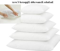 """Multiple Sizes - Pillow Inserts - w/ Pillow Protectors - 9"""""""