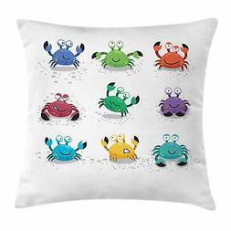 Nautical Throw Pillow Cases Cushion Covers by Ambesonne Acce