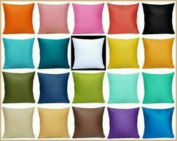 "16x16"" Multi-Color 100% Cotton Premium Throw Pillow Case Bed"