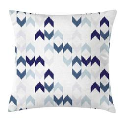 Ambesonne Navy Throw Pillow Cushion Cover, Abstract Ethnic I