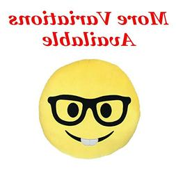 Nerd Emoji Pillow 9"