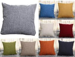 "New 16"" 18"" 20"" 22"" Large Plain Linen Throw Cushion Cover Pi"