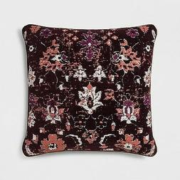 NEW 3-Pieces Threshold Woven Floral Square Throw Pillows - B