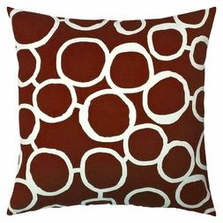 NEW JinStyles Accent Decorative Throw Pillow Cover, Circle B