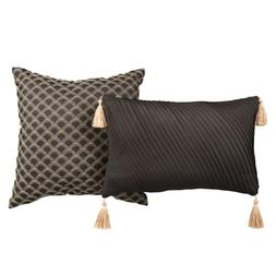 New Lionel Richie Brand Black Comfort 2-Pack Throw Pillows