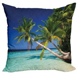 NEW Set of 4 Ambesonne Tropical Beach Summer Pillow Cover  1