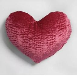 New Velvet Heart Shape Throw Pillow Pink Opalhouse Accent Pu
