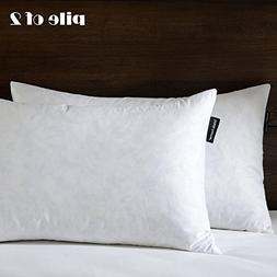 "12""X20"" Oblong Pillow Insert, 95% Feather 5% Down, 100% Cott"