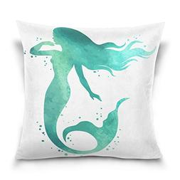 ALAZA Ocean Creature Marine Cotton Pillowcase 16 X 16 Inches