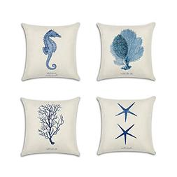 Anna Ocean Park Cotton Linen Theme Decorative Pillow Cover 1