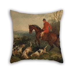 Oil Painting William J. Shayer - Foxhunting- At Cover Pillow