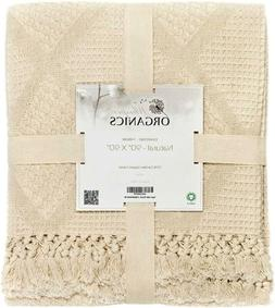Whisper Organics Organic Cotton Throw Blanket G.O.T.S. Certi