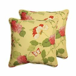 Pillow Perfect Outdoor Risa Corded Throw Pillow, 18.5-Inch,