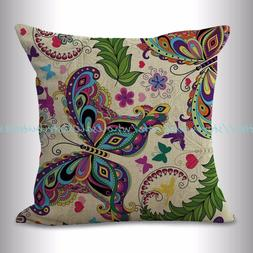 , outdoor throw pillow covers butterfly cushion cover