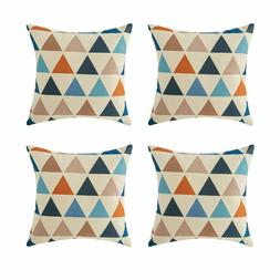 Top Finel Outdoor Throw Pillow Covers Set - Square Cotton Li