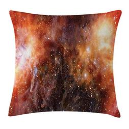 Ambesonne Outer Space Throw Pillow Cushion Cover, Nebula Gas