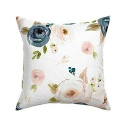 Oversized Floral Large Big Throw Pillow Cover w Optional Ins