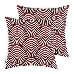 Pack of 2 CaliTime Soft Canvas Throw Pillow Covers Cases for