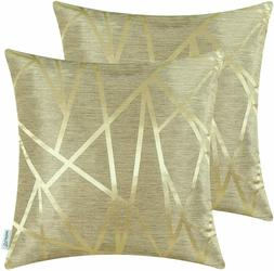 Pack of 2 Throw Pillow Covers Modern Shining & Dull Abstract