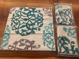 CaliTime Pack of 4 Embroidered Pillow Covers Cases for Couch