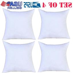 Pack of 4 Throw Pillows Insert Bed and Couch Pillows Utopia