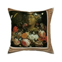 Paintings Art Frames Baroque Throw Pillow Cover w Optional I