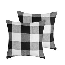 Vanky Set of 2, Retro Farmhouse Tartan Buffalo Checkers Plai