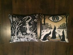 """Patterned Throw Pillows Set of 2 NEW 16""""x16"""""""
