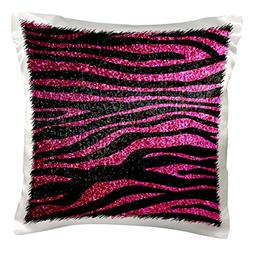 3dRose pc_113174_1 Hot Pink and Black Zebra print Faux bling