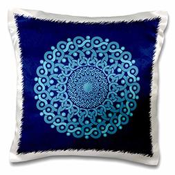 3dRose pc_32175_1 TURQUOISE and Cobalt Blue Fantasy mandala