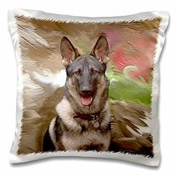 3dRose pc_3937_1 German Shepherd-Pillow Case, 16 by 16""