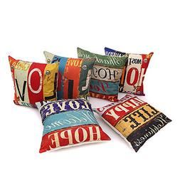 HOSL PCom03 LOVE Series Decorative Cushion Cover Square Thro