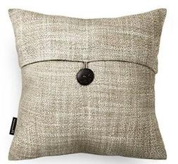Phantoscope Single Button Cotton Blend Throw Pillow Case Cus