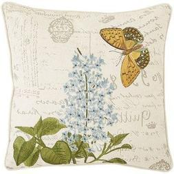 Lionkin8 Pier 1 Imports Embroidered Flower & Butterfly Scrip