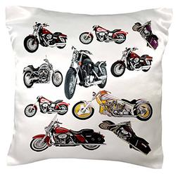 3dRose Pillow Case Picturing Harley-Davidson® Motorcycle