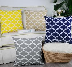 CaliTime Pillow Cases Shells Cushion Covers Fluffy Geometric