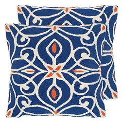 Safavieh Pillow Collection 20-Inch, Algarbe Tile Blue, Indoo