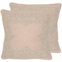 Safavieh Pillow Collection Throw Pillows, 20 by 20-Inch, Flo