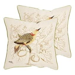 Safavieh Pillow Collection Throw Pillows, 22 by 22-Inch, Est