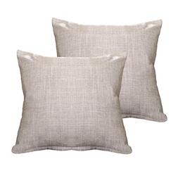 ALHXF Pillow Cover Burlap Linen Throw Pillow Covers - 2 Pack