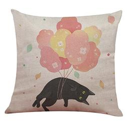 GBSELL Pillow Cover Pretty Black White Cat Pillow Case Sofa