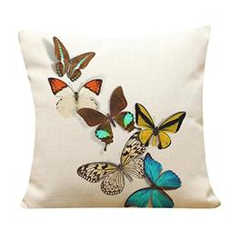 GBSELL Pillow Cover Pretty Butterfly Pillow Case Sofa Throw